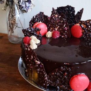 Chocolate Rasberry Entrement Cake